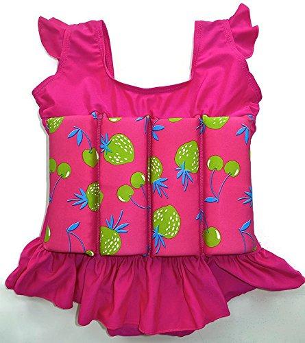 Traje de baño con flotador para niños, flotabilidad ajustable, Pink Love