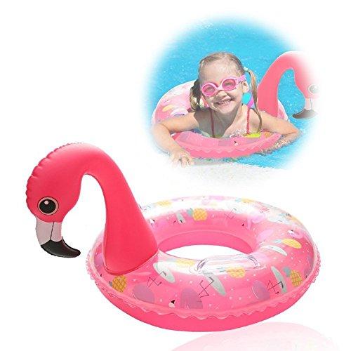 Bouée Bébé Flotteur Bateau Gonflable - WISHTIME Flotteur de piscine gonflable flotteur de piscine de flamant Anneau de natation Jouet Matelas Gonflable pour enfant 3–8 ans