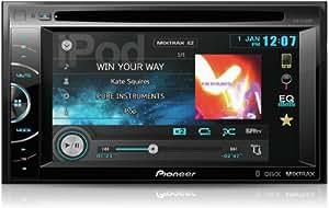 Pioneer AVH-X2500BT 2-DIN-Moniceicer (15,5 cm (6,1 Zoll) VGA-Touchpanel, RGB-Beleuchtung, CD/DVD-Laufwerk, Rear-USB, AUX-In, 3 Paar Cinch-Vorverstärkerausgänge, 2x Video-In, Advanced App Mode für iPhone, Mixtrax, Parrot Bluetooth-Funktionalität)
