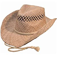 Quality Natural Straw Cowboy Hat (one size shapeable)