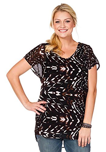 Tunique Blouse longue par sheego marron-multicolore