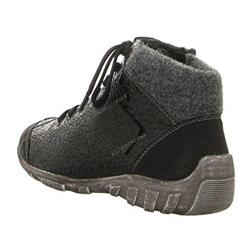 Rieker L6540, Sneaker Donna Black Croc