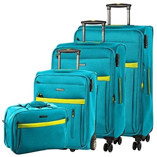 Travelite Set de Bagages, Aqua/Citron