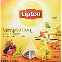 Lipton - Té verde aromatizado en bolsitas, pack de 4