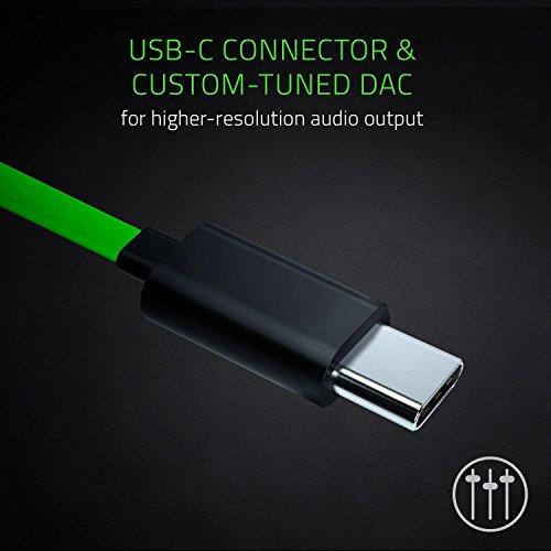 Razer Hammerhead USB-C Gaming In-Ear Kopfhörer (mit USB-C Anschluss, geeignet für das Razer Phone) grün - 2