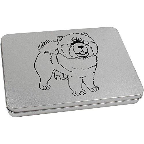 Hund Chow-chow Essen Hund (220mm x 160mm 'Chow Chow Hund' Blechdose / Aufbewahrungsbox (TT00070224))
