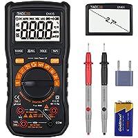 Multimètre, Tacklife Classique DM05/6000 Comptes True RMS /Gamme Automatique et Manuelle Commutable /Mesure relative /Mesurer Tension AC / DC ,Courant ,Capacité ,Fréquence ,Transistors ,Diodes