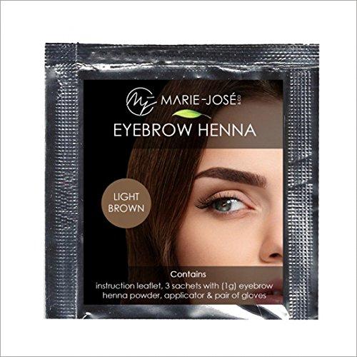 Henna Augenbrauenfarbe Hellbraun | Full-Brow-Effekt, auch die Haut wird gefärbt | Henna Brow |...