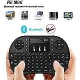 (Novedad 2015, con Luz de fondo) Rii mini i8+ Mini Teclado Bluetooth ergonómico con ratón tipo ...