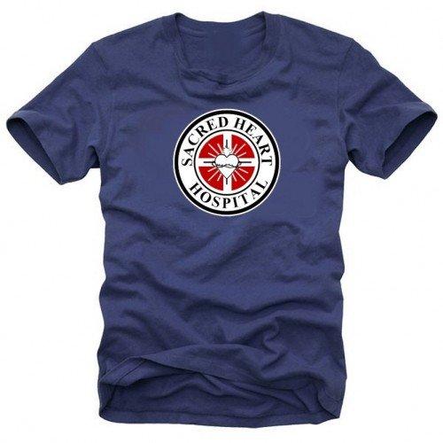 Coole-Fun-T-Shirts-SCRUBS Sacred Heart Hospital blu navy XL