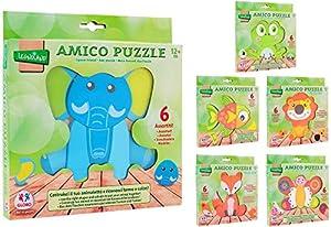Globo Juguetes globo-3770122x 19,8x 1,8cm, 1surtidos Legnoland de madera Animal Puzzle