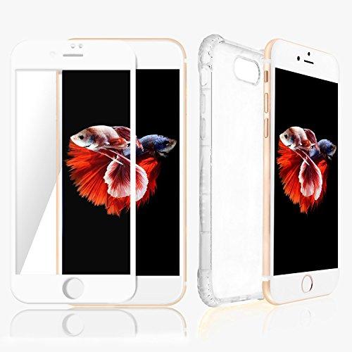 Custodia iPhone 7Plus Trasparente & Protezione Schermo Bianco SWISS-QA, Migliore Cover Invisibile per Apple Phone di Alta Qualità Antiscivolo Ergonomica Nuova Tecnologia Bumper per Evitare la Rottura