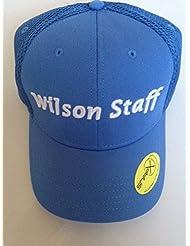 2016 WILSON STAFF MESH GOLF CAP. LIGHT BLUE.