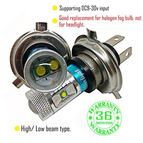 Preisvergleich Produktbild Wiseshine H4 3000k lampen 9003 HB2 autolampe led Nebellichtbirne DC9-30v 3 Jahre Qualitätssicherung (Satz von 2) H4 6 led hohe Leistung warmes Weiß