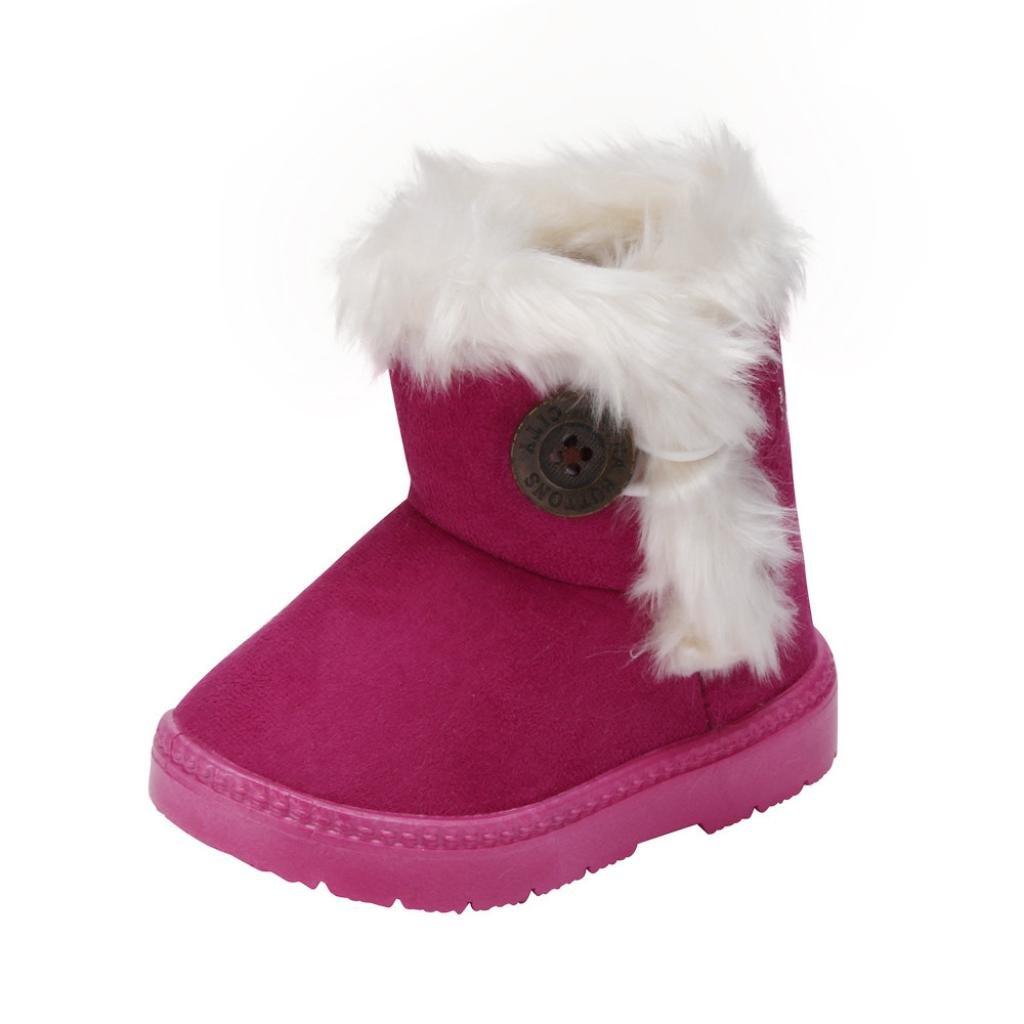 Per 1~6 anni ,Amlaiworld Moda inverno ragazze bambino doposci scarpe calde (Rosa caldo, 23)