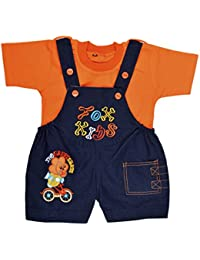 Kuchipoo Kid's Denim Dungaree Set