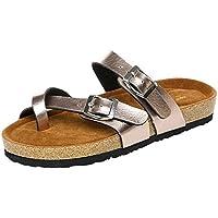 LANDFOX Damen Leather Footbed Beach Sandal Crocband Flip Zehentrenner  Unisex-Erwachsene Epic Flip V2 Mode d660e7443e