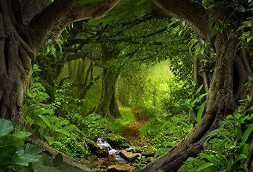 YongFoto 3x2m Vinilo Fondo de Fotografia Selvas Tropicales Profundas Naturaleza Paisaje del...