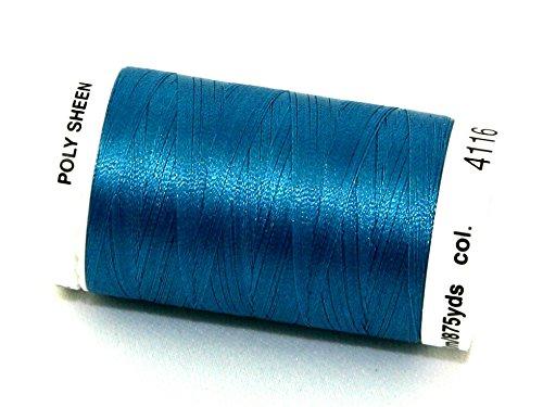 Mettler-Polysheen Polyester Maschine Stickgarn 800m 800m 4116Dark Teal-Pro Spule -