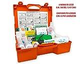 FARMA 4 cassetta medica di primo pronto soccorso per aziende con oltre 3 lavoratori DM 388 allegato 1 completa di cartello di primo intervento