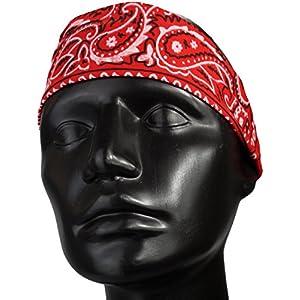 Alex Flittner Designs Stirnband/Schweißband im Bandana paisley Design mit Gummizug in schwarz, weiß, royal, rosa, rot, navy