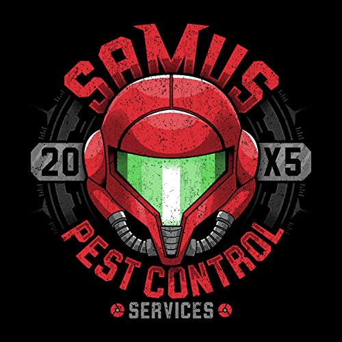Samus Pest Control Services Metroid Women's T-Shirt Black