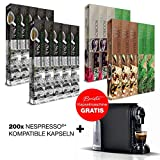SanSiro No. 1 - Nespresso® kompatible Tee & Kaffeekapseln Tee Limited Sensitive Edition - 200 Kapseln + Barista Kapselmaschine GRATIS