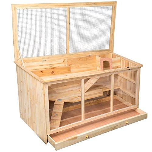 tectake-gabbia-per-roditori-legno-con-tre-piani