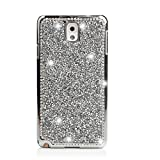 Samsung Galaxy S6 Edge Coque/Case, elecfan®, bling Crystal Crown Rhinestone Flower Pearl Diamond Sparkle Glitter fabriqué à la main hardplastic Smart Protection/Cover For Samsung Galaxy S6 Edge, 2016 New Design Note 4 Splitter