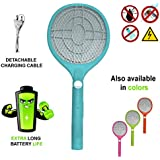 Viola Pop Series Heavy Duty Mosquito Bat Rechargeable with LED Torch (Multicolour)