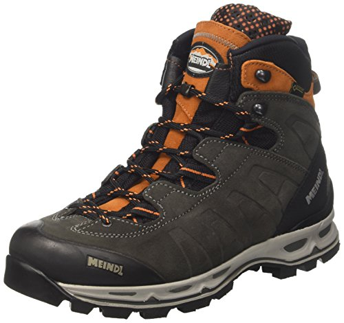 Meindl Herren Air Revolution Ultra Trekking-& Wanderstiefel, Grau (Anthrazit/Orange 31), 45 EU (Leder-walking-schuhe)