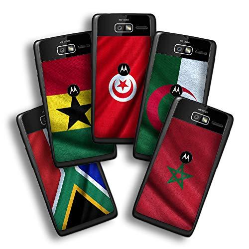 atFolix Designfolie kompatibel mit Motorola Razr i, Skin Aufkleber (Flaggen aus Afrika) -