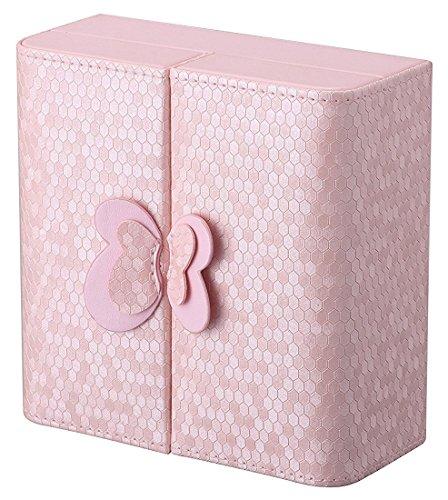 Preisvergleich Produktbild HorBous Fashion Girls Schmuckschatulle mit Bowknot Schmuck Organizer Box Case (Rosa)