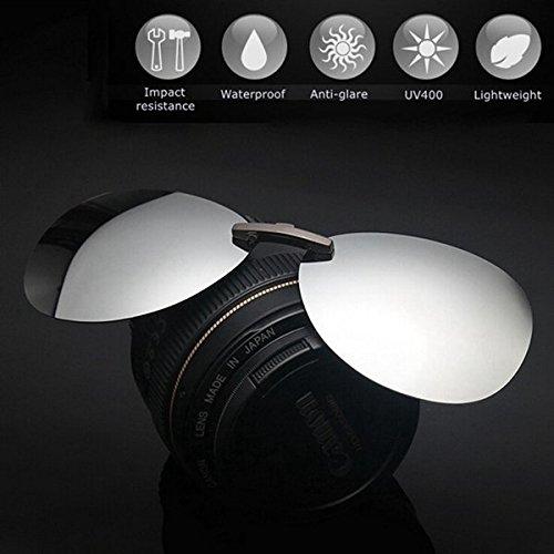 Generic Polarized Clip On Sunglasses Sun Glasses Driving Night Vision Lens