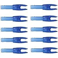 Sharplace 10 Piezas de Nocks de Flecha de Plastico Accesorio Deportivo Protector G Tamaño - Azul Transparente