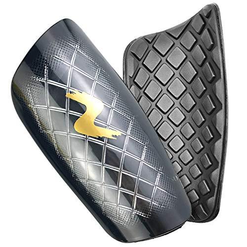 cococity Fußball Schienbeinschoner Erwachsene Knöchelschutz Hardshell Schienbeinschützer umfassenden Schutz für die Beine PP EVA Schwarz