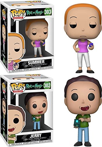 Funko POP! Rick & Morty: Summer + Jerry – Stylized Vinyl Figure Set