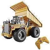 fisca rc LKW 6 ch 2,4g Legierung Fernbedienung muldenkipper 4 Rad Fahrer Mine baufahrzeug Spielzeug Maschine Modell mit led licht -