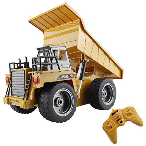 fisca rc LKW 6 ch 2,4g Legierung Fernbedienung muldenkipper 4 Rad Fahrer Mine baufahrzeug Spielzeug Maschine Modell mit led licht