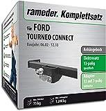 Rameder Komplettsatz, Anhängebock mit 2-Loch-Flanschkugel + 13pol Elektrik für Ford TOURNEO Connect (113999-04933-70)