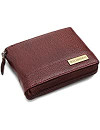 WildHorn Men Bombay Brown Genuine Full Zipper Men's Leather Wallet