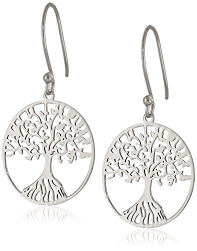 Amazon Sterling Silver Tree of Life Earrings