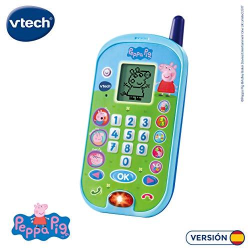VTech-El teléfono de Peppa Pig Móvil Ectrónico Interactivo Que Simula Conción Tefónica con El Niño...