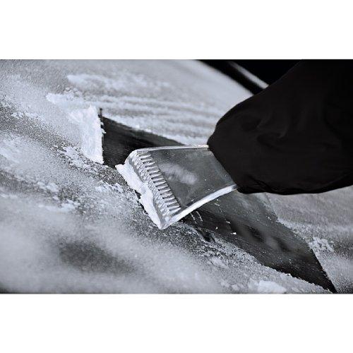 Hama 00083959 Grattoir à Glace avec Gant Fourre, Noir