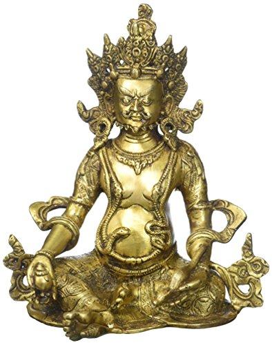 25,4cm kuwer Gott des Reichtums Hindu Mahakala Buddha Statue Antike Tibetische Bronze Shiva sculpture- Displayschutzfolie von Dharma Buddhismus Vajrapani Figur–Indischen Geschenk Diwali Puja