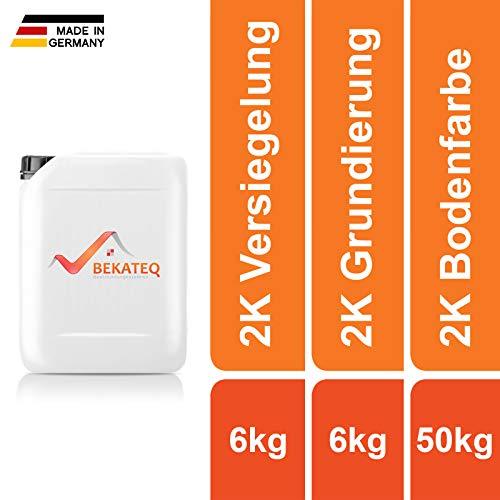 BEKATEQ BK-700EP Designboden Beschichtung SET: 6KG Grundierung + 50KG Designbeschichtung Epoxidharz + 6kg 2K Versiegelung Designbelag Designfussboden