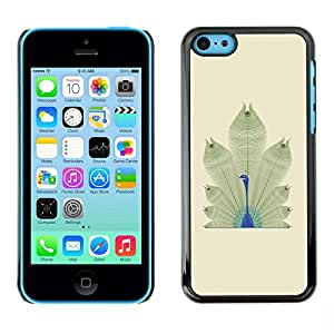 Omega Covers - Snap on Hard Back Case Cover Shell FOR Apple iPhone 5C - Bird Feathers Minimalist Africa