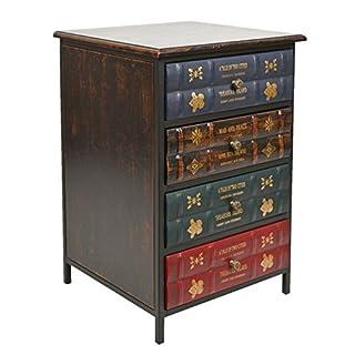ts-ideen Kommode Schrank Vintage Antik Buch Design Standregal British Style 43 x 63 cm