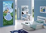 AG Design FTDv 0241  Aschenputtel Disney Princess Prinzessin Cinderella, Papier Fototapete Kinderzimmer - 90x202 cm - 1 Teil, Papier, multicolor, 0,1 x 90 x 202 cm