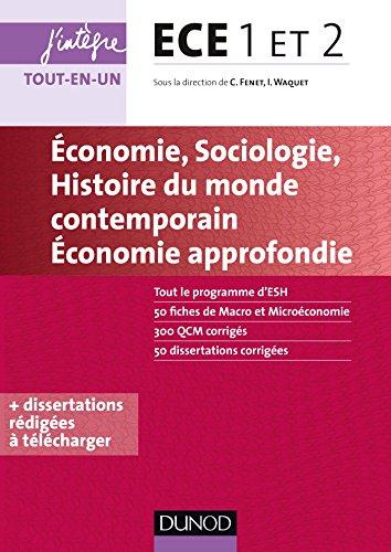 ECE 1 ET 2 - Economie, Sociologie, Histoire du monde contemporain (J'intgre)
